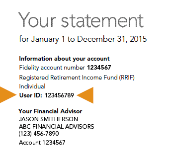 User ID statement example